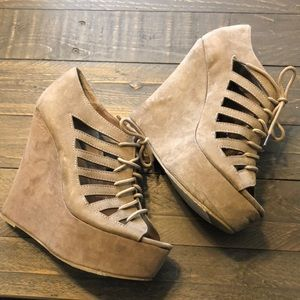 Maurice's high wedges